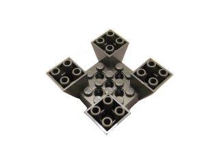 #30373 逆スロープ 65° 6x2x2  4面カットアウト 【旧濃灰】 /Slope 65° 6x6x2 Inverted Quadruple :[Dark Gray]
