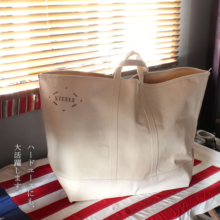 STEELE NATURAL CANVAS トートバッグ 180 Large
