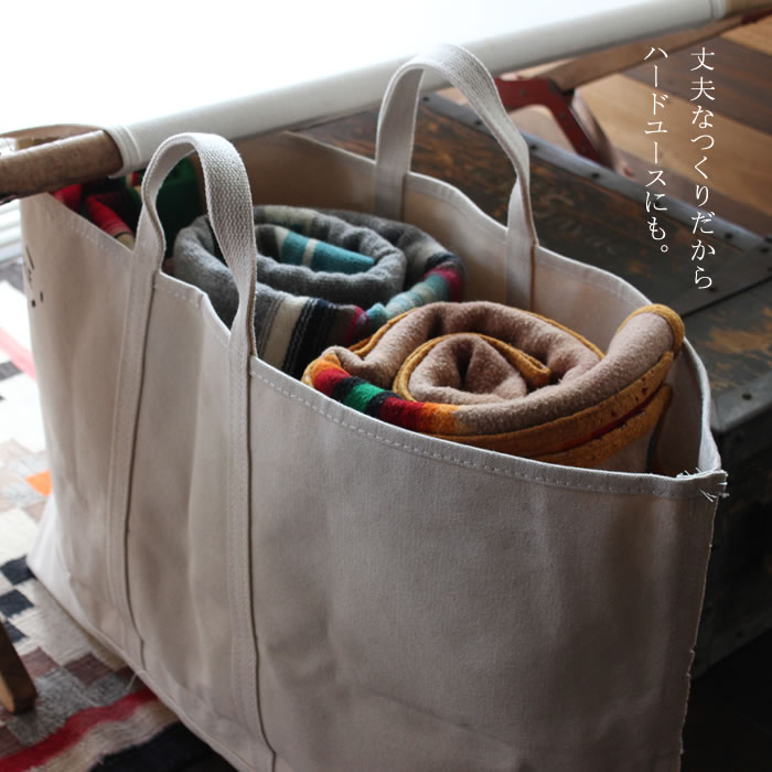 STEELE NATURAL CANVAS TOTEBAG wide