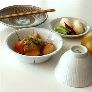 九谷焼 文吉窯 そメや 5寸小鉢 二色線文 メ-37