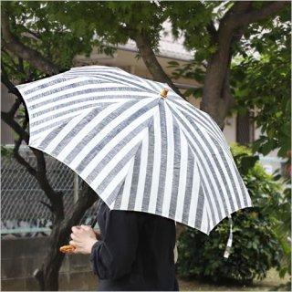 SUR MER リネンリゾートストライプ 太ストライプ 長傘 /折りたたみ傘