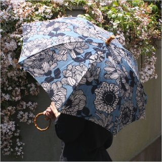 SUR MER リネン花柄プリント 長傘/折りたたみ傘