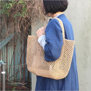 松野屋 笹編み手提 大