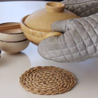 松野屋 籐のなべ敷き