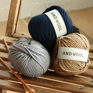 NO.12の糸を使ったケーブル編みニット帽子