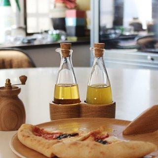 MENAGERI Oil and vinegar bottles H15 oak