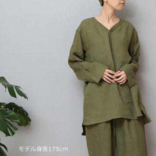 LINEN TALES alder shirt ヘンリーPOシャツ