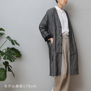 LINEN TALES oak coat Noカラーコート