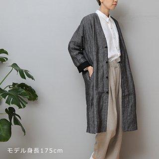 LINEN TALES oak coat Noカラーコート
