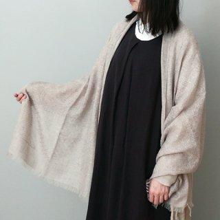 Natural Basic ワッフル織・平織・繻子織 切り替えストール 60×180