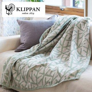 KLIPPAN クリッパン リネン&シュニール シングルブランケット 140x180cm