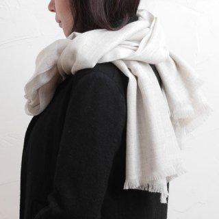 NATURAL BASIC 梳毛綾織りストール
