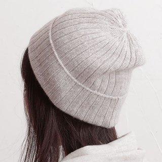 NATURAL BASIC カシミヤニット ニット帽