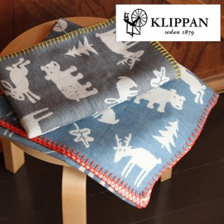 KLIPPAN ライトコットン ミニブランケット フォレスト 70x90cm