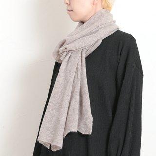 AND WOOL カシミヤ糸で編んだ細巾ストール (マフラー) CAA-021