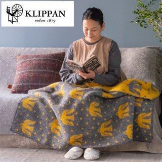 KLIPPAN ウールブランケット ハーフ 90×130cm Birds in the snow