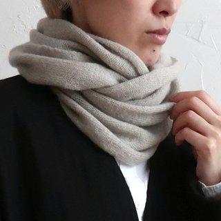 AND WOOL カシミヤ糸で編んだスヌード CAA-044