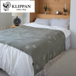 KLIPPAN ウールスロー シングル 130×200cm CHOUCHO オリーブ