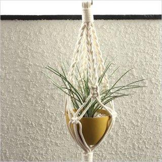 Macrame Hanging Planter マクラメ編みプランターコットン MPH007