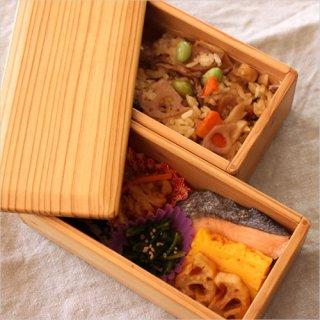松野屋 宮崎杉 二段 弁当箱