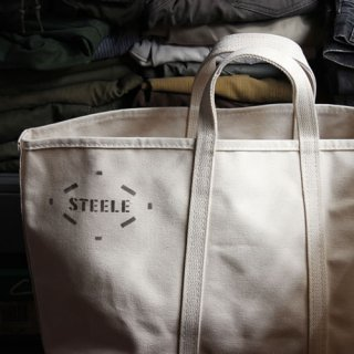 STEELE NATURAL CANVAS TOTEBAG Medium