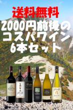 送料無料!2000円前後のコスパワイン6本セット【南アフリカワイン】
