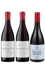 クリスタルム ピノノワール2種+レストレスリヴァー ピノノワール1種セット Crystallum&Restlessriver Pinot Noirs 【お一人様1セットまで】