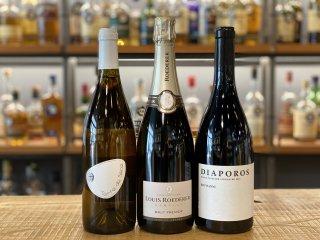 【3か月コース】自分へのご褒美ワインガチャ♪赤/白(もしくは泡)各1本/自然派ワイン1本