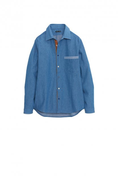 FRANK LEDER<br>8oz WASHED DENIM SHIRTS WITH TRADITIONAL