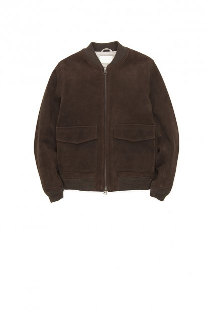 niuhans<br>GOAT SUEDE LEATHER BOMBER JACKET