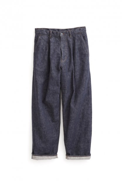 Graphpaper<br>Colorfast Denim Two Tuck Pants
