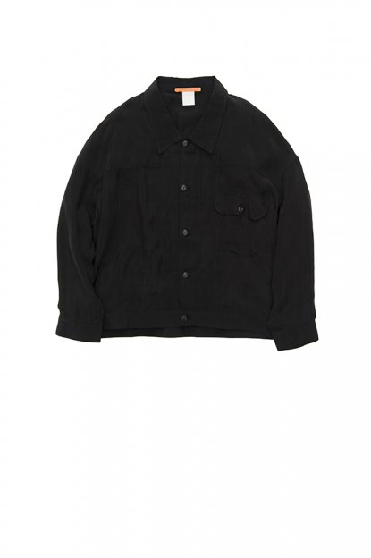 MAISON EUREKA<br>ONE POCKET SHIRT JACKET BLACK