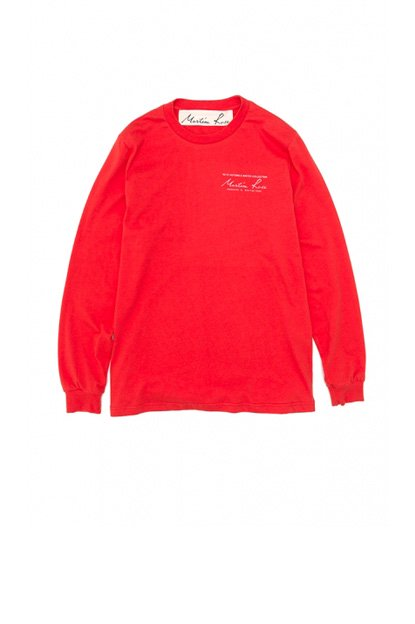 MARTINE ROSE<br>TEE L/S CLASSIC LOGO