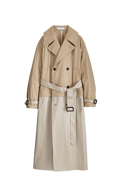 Graphpaper<br>2 Tone Trench Coat