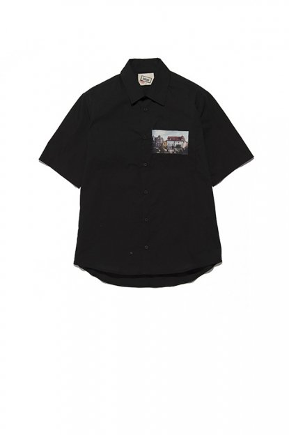 FRANK LEDER<br>TRPL WASHED THIN COTTON / SHORT SLEEVE SHIRT