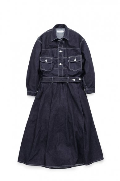 -SALE-<br>Graphpaper<br>Belted Denim Dress