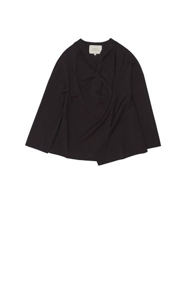 STUDIO  NICHOLSON<br>SUPERFINE WOOL  WOMENS L/S TWIST TOP