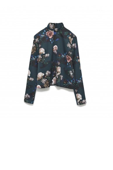 JOHNLAWRENCESULLIVA<br>FLOWER PRINTED TOP