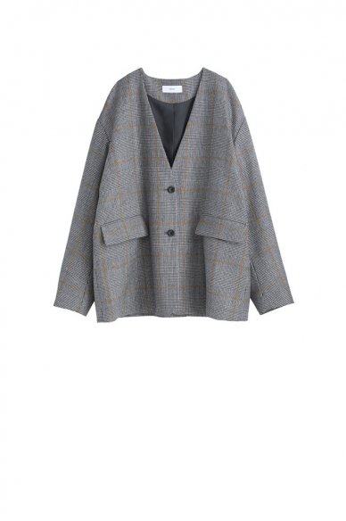 Graphpaper<br>Glencheck Collar Less Jacket