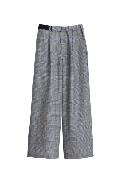 Graphpaper<br>GlenCheck Wide Cook Pants