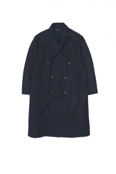 FRANK LEDER<br>DARK BLUE WOOL COAT
