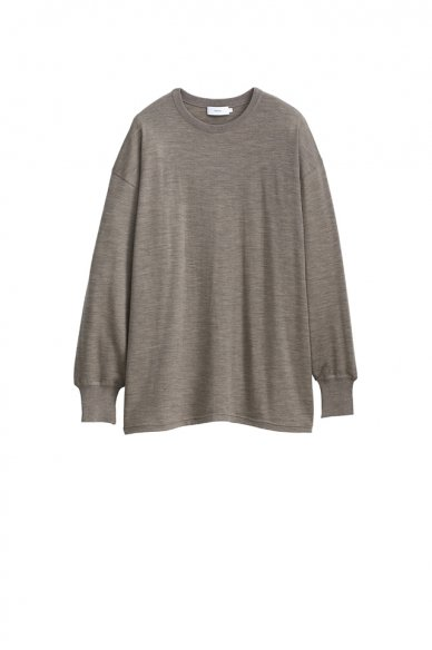 Graphpaper<br>Washable Wool Crew Neck Big Tee