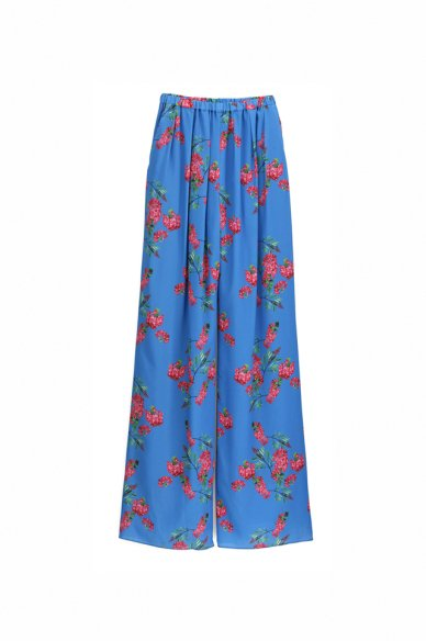 Graphpaper<br>Flower Printed Wide Gather Pants (The floral print designed by *ENAMEL)