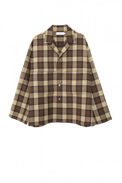 -SALE-<br>Graphpaper<br>Wool Check Military Shirt