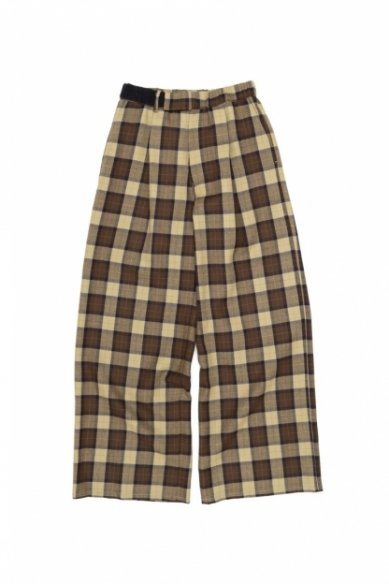 Graphpaper<br>Wool Check Wide Tuck Cook Pants