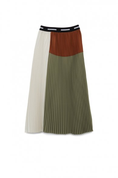 Graphpaper<br>Satin Pleats Skirt