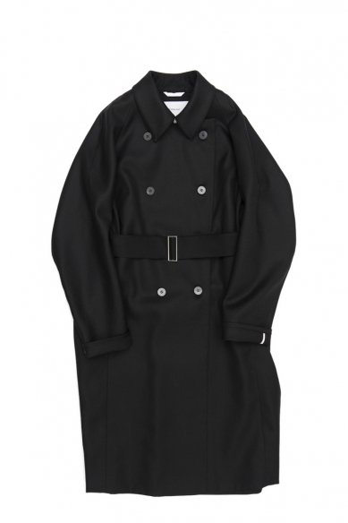 OVERCOAT<br>Raglan Sleeve Overcoat With Two Way Collar in Frozen Serge