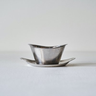 Wilhelm Wagenfeld for WMF<br>Stainless Gravy boat 1950's