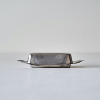 Wilhelm Wagenfeld for WMF<br>Stainless butter dish 1950's