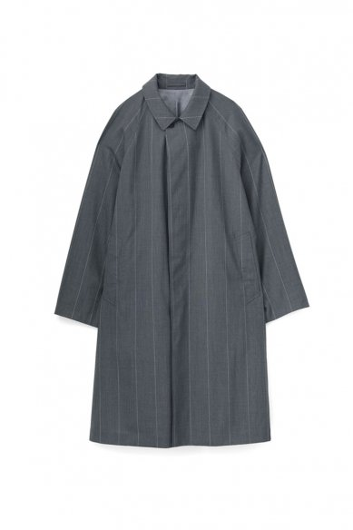 Graphpaper<br>Wide Stripe Wool Oversized Coat